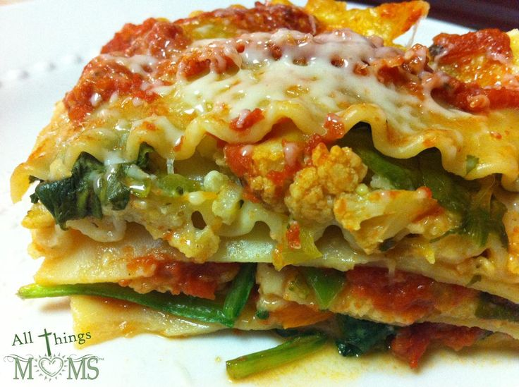 Roasted Vegetable Lasagna- Microwave in 20 minutes!