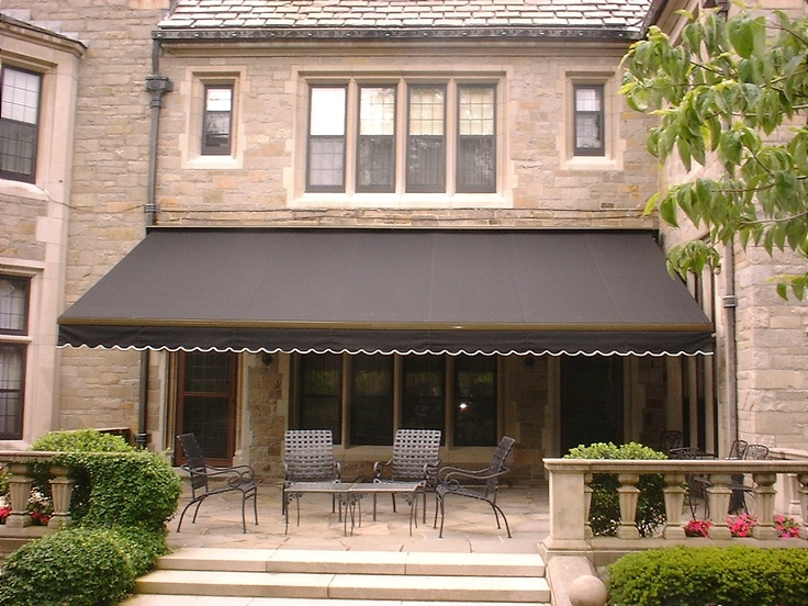 nice retractable awning - example of one very wide non cassette awning , feels clumsy to me versus having two cleaner profiles with cassette