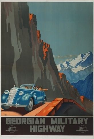 Aleksander Zhitomirsky, Georgian Military Highway, 1939 — See USSR runs from 7 June-31 August 2013 at Grad: Gallery for Russian Arts and Design