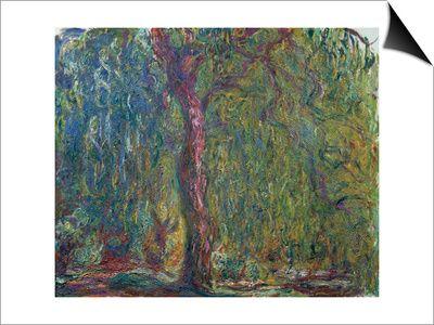 Weeping Willow, C. 1919 Plakat af Claude Monet på AllPosters.dk