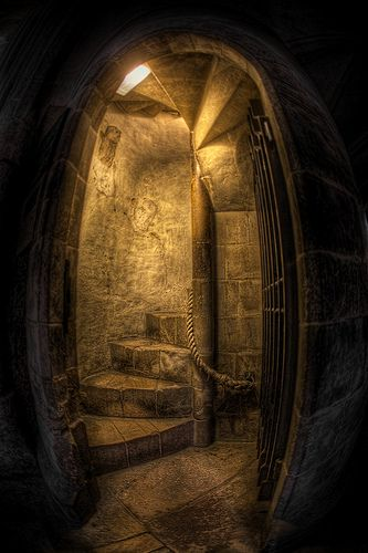 """I found this cool doorway at a Cathedral, i shot it with a fisheye lens and it gave it this really cool """"portal to another world look""""! HDR made of 7 exposures from -3 to +3 EV and shot with a Canon 5D Mark iii  See more of my HDR Churches and Cathedrals on my blog here"""