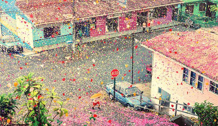 8 Million Flower Petals Rain Down On A Village In Costa Rica