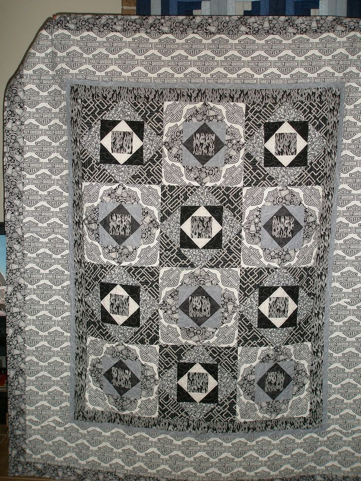 38 Best Harley Quilts Images On Pinterest Longarm
