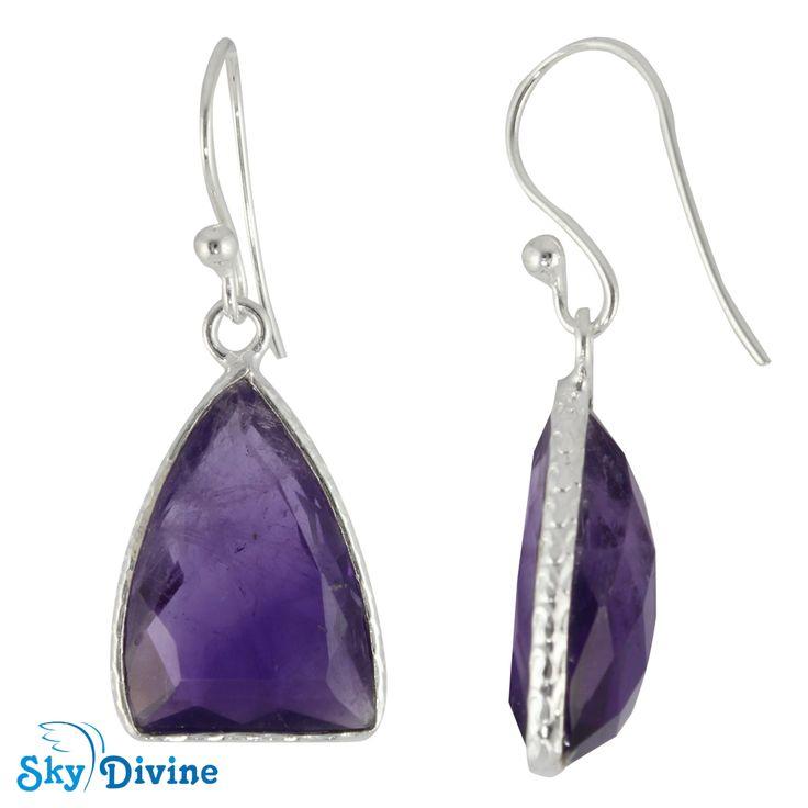 Sky Divine - 925 Sterling Silver amethyst Earring SDER2142 SkyDivine Jewellery, $63.95 (http://www.skydivine.com.au/925-sterling-silver-amethyst-earring-sder2142-skydivine-jewellery/)