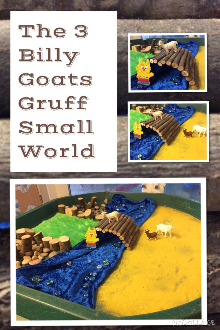 The Three Billy Goats Gruff Small World for EYFS