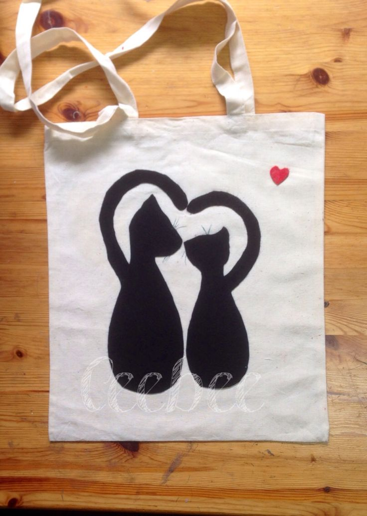 Cats in love bag