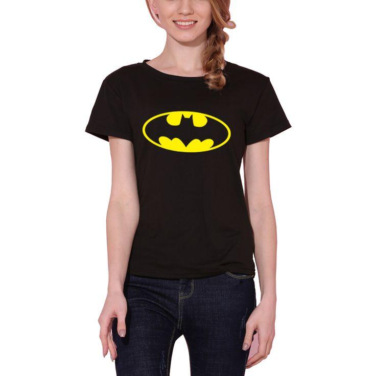 Nuove Donne maglietta Batman Stampa Divertente Magliette Casual di Base Che Basa Camicia A Maniche Corte Sciolto Per La Signora Tops Tees S-XXL