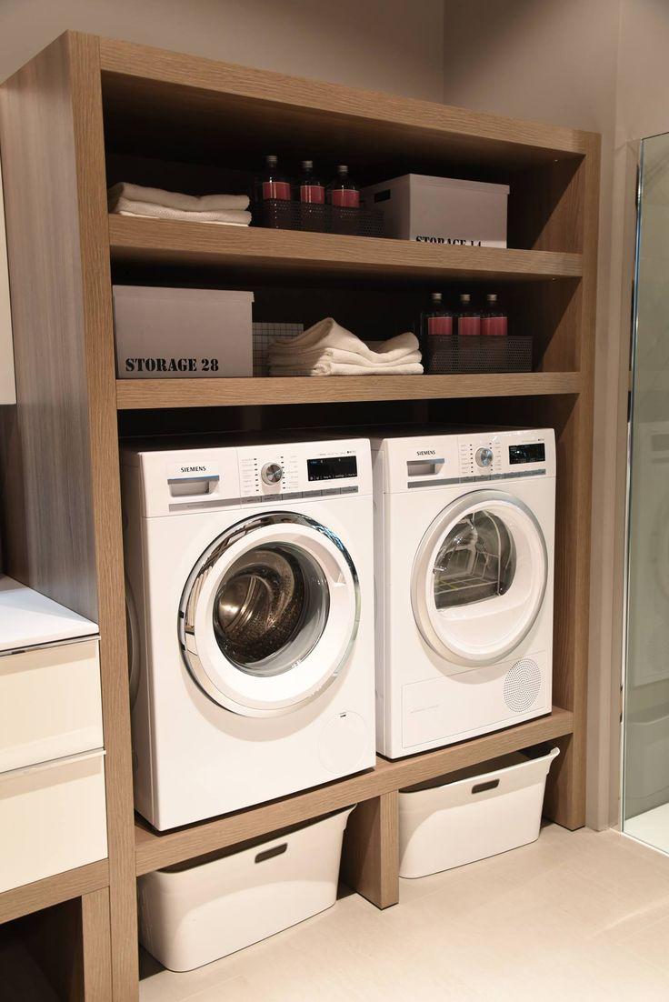 Come arredare un bagno lavanderia funzionale e di design per minimizzare gli spazi in ambienti piccoli. Idee arredo per i mobili del bagno di servizio.