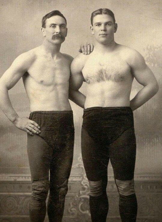 The greatest wrestler under 200lbs of the entire ninteetnth century, Farmer Burns, & his student, the second ever World's Heavyweight Wrestling Champion, Frank Gotch.