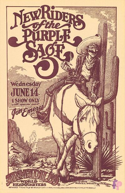 New Riders of the Purple Sage at Armadillo World Headquarters, Austin, TX 6/14/78 by Micael Priest