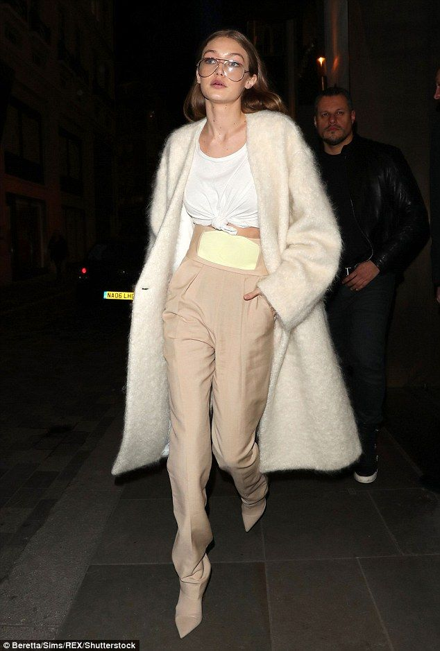 Specs appeal! She has one of the most famous faces in the industry. But Gigi Hadid mixed up her look with a pair of quirky spectacles as she stepped out in London on Monday