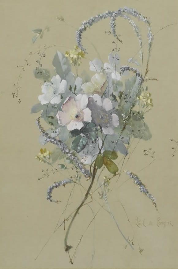 """Flowers"" - Paul De Longpre  c.1855-1911 - From The Cooley Gallery"