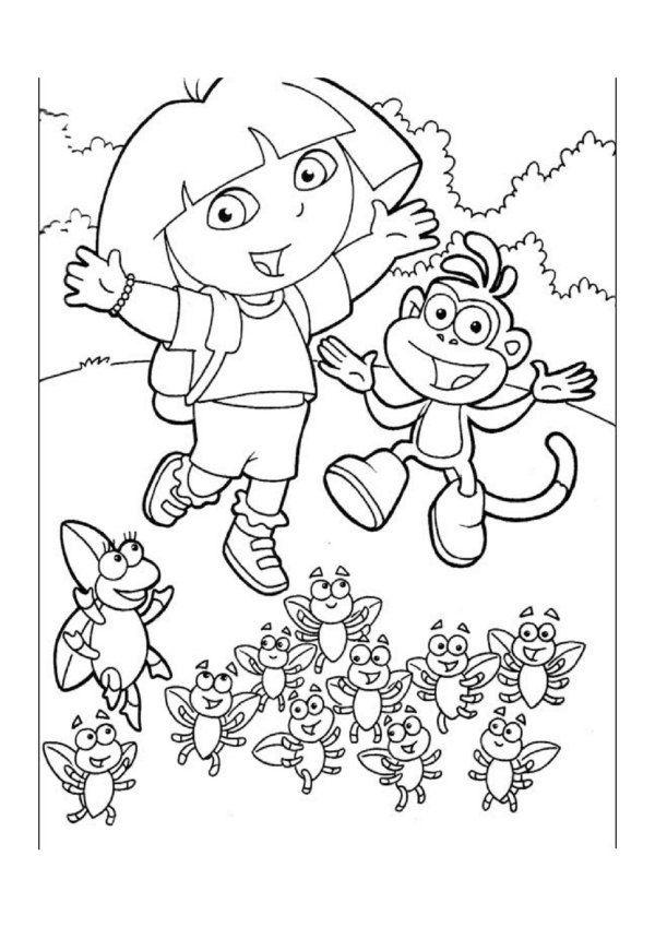 Dora de Explorer Kleurplaten voor