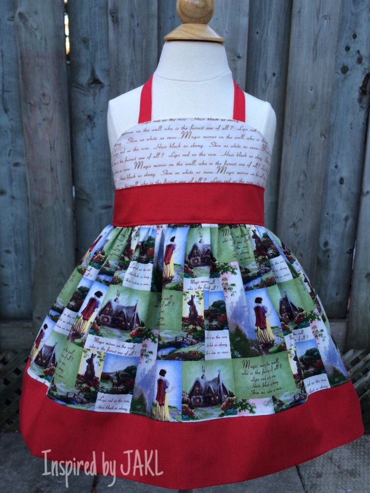 A personal favorite from my Etsy shop https://www.etsy.com/listing/227495229/girls-4t-princess-halter-top-oop-thomas