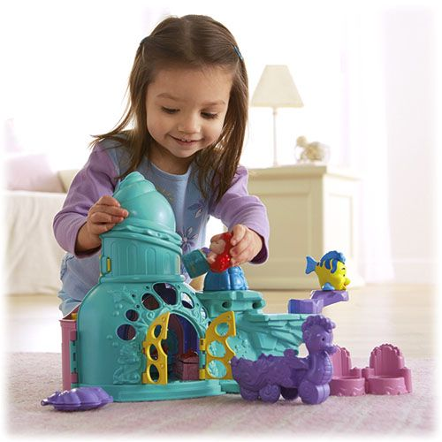 Toy Castles For Toddler Boys : Little people disney ariel s castle shop
