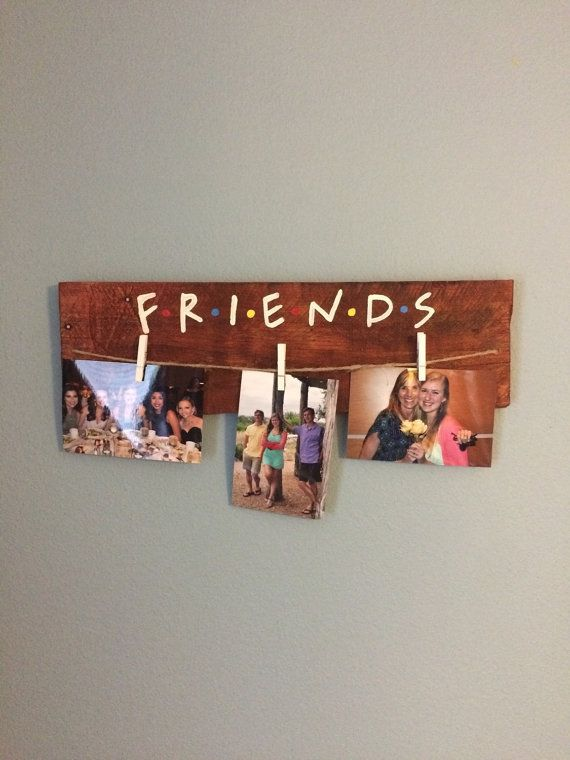 Friends tv show picture hanger by BoardsOfBliss on Etsy