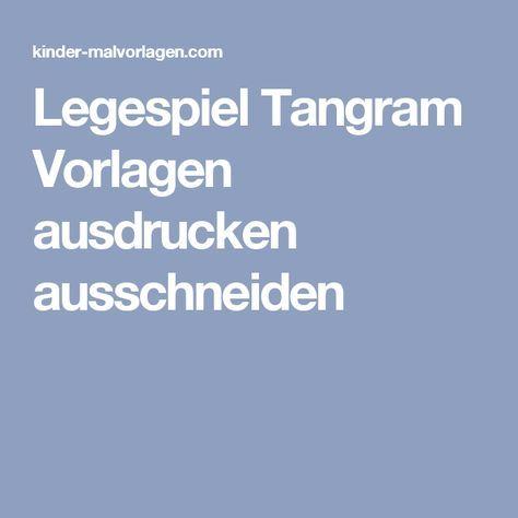 legespiel tangram vorlagen ausdrucken ausschneiden | legespiele, vorlagen, ausdrucken