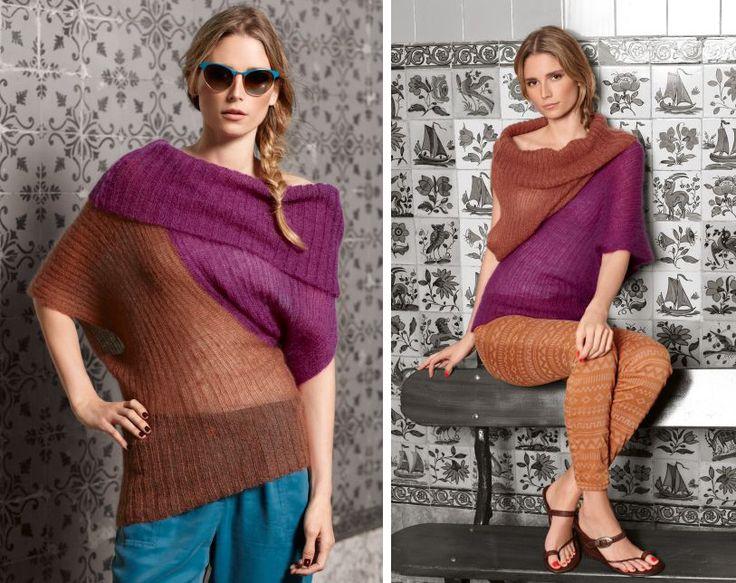 Топ два-в-одном - схема вязания спицами. Вяжем Топы на Verena.ru