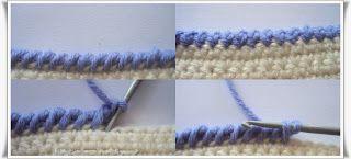Tığ işi Battaniye Kenarı Modeli Resimli Anlatımı 2