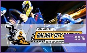€18 instead of €40 for Two People to enjoy 15 minutes of racing at Galway City Karting!!