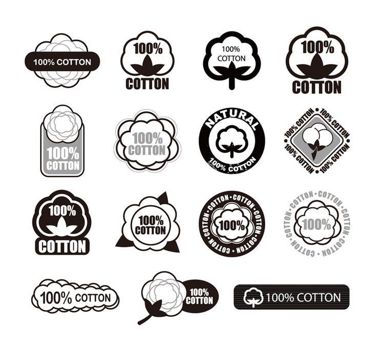 Cotton Logo Vector Set | Free Vector Graphics | All Free Web Resources for Designer - Web Design Hot!