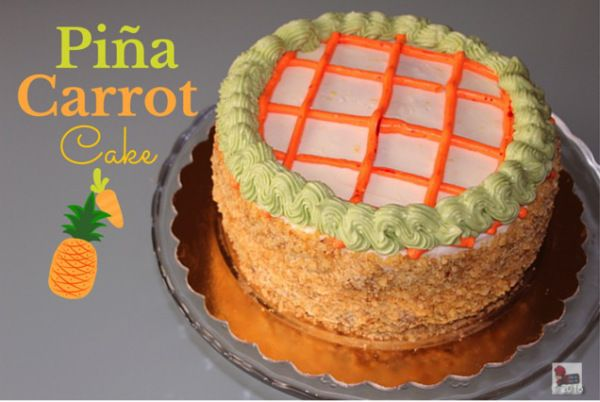 Tropical touch to my Easte carrot cake.