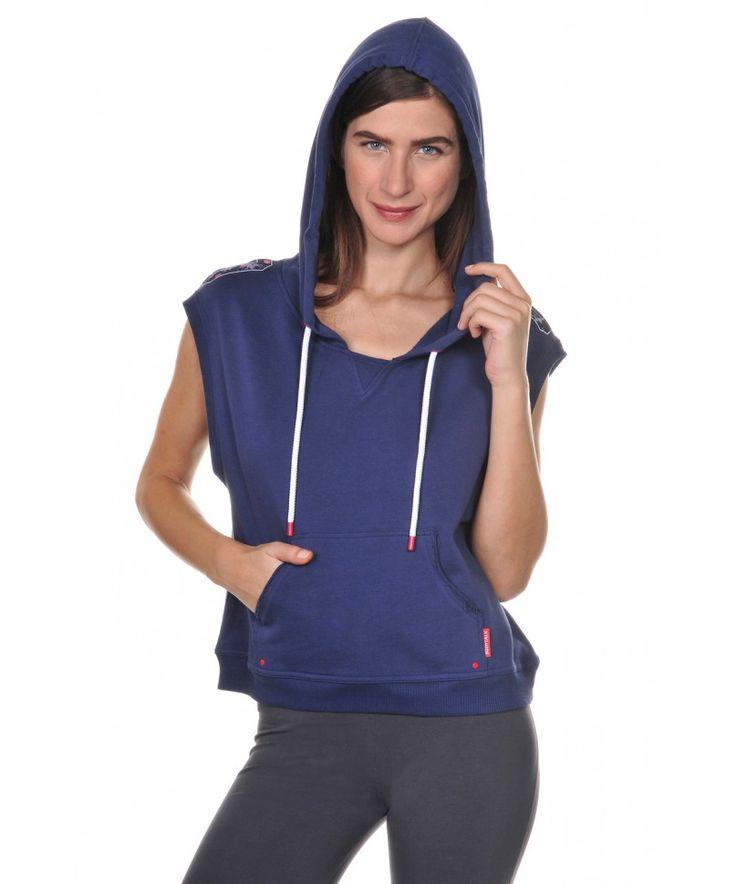 Αμάνικη Γυναικεία Μπλούζα με Κουκούλα - BodyTalk e-shop