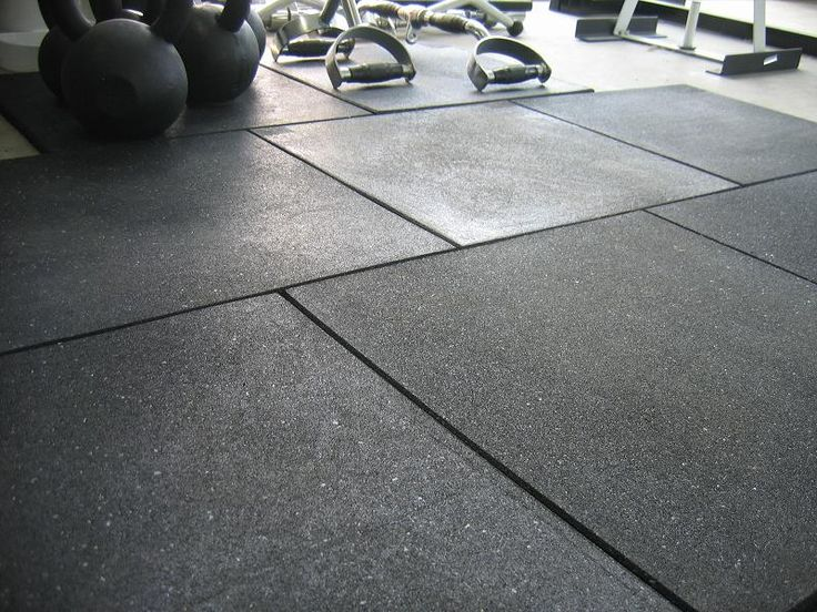 In general, gym floorings are made of rubber so that the athletes have a  specific