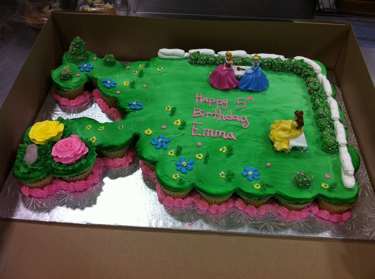 Disney S Princess Cupcake Cake Cake Ideas Pinterest