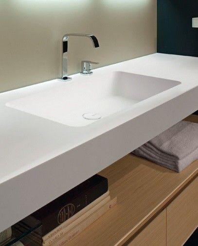 Best Casa De Banho Images On Pinterest Bathroom Ideas - Integrated sink countertop bathroom for bathroom decor ideas
