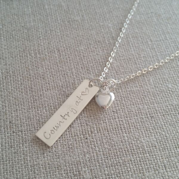 Country at Heart Necklace: Country girl jewelry. – Evolution Lighthouse