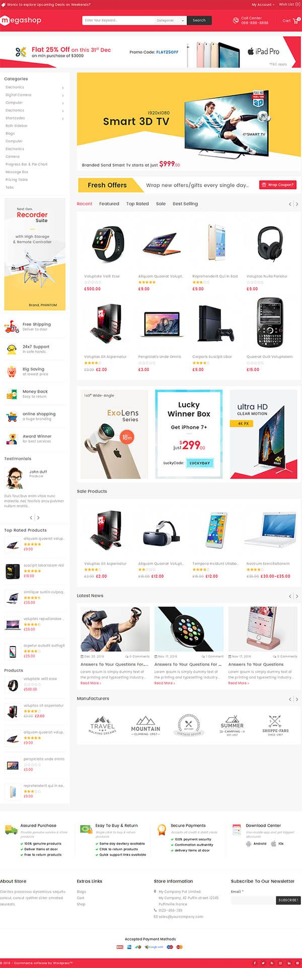 Mega Shop : WooCommerce Multi-Purpose Responsive Theme