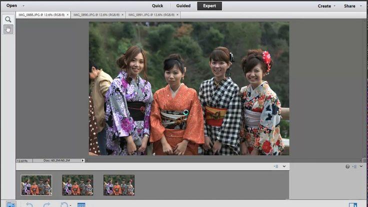 Photoshop Elements: Photomerge Scene Cleaner