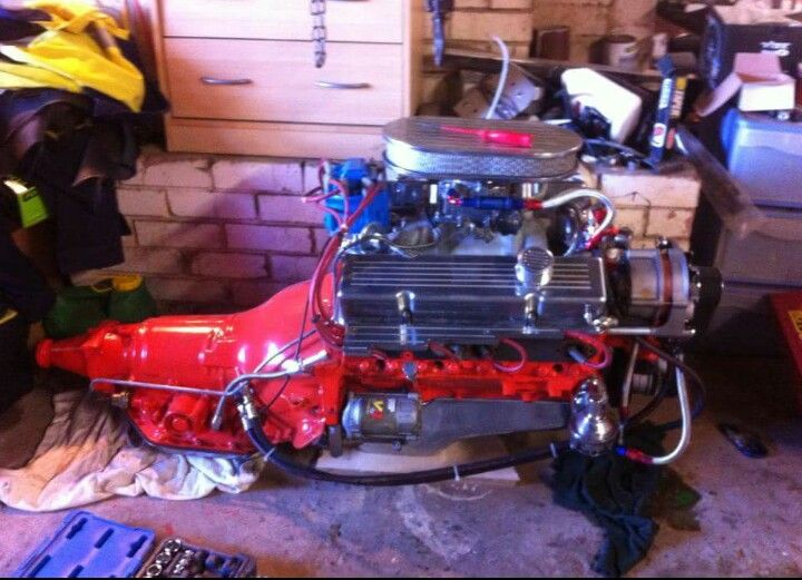Chevelles  350 chev engine after first rebuild