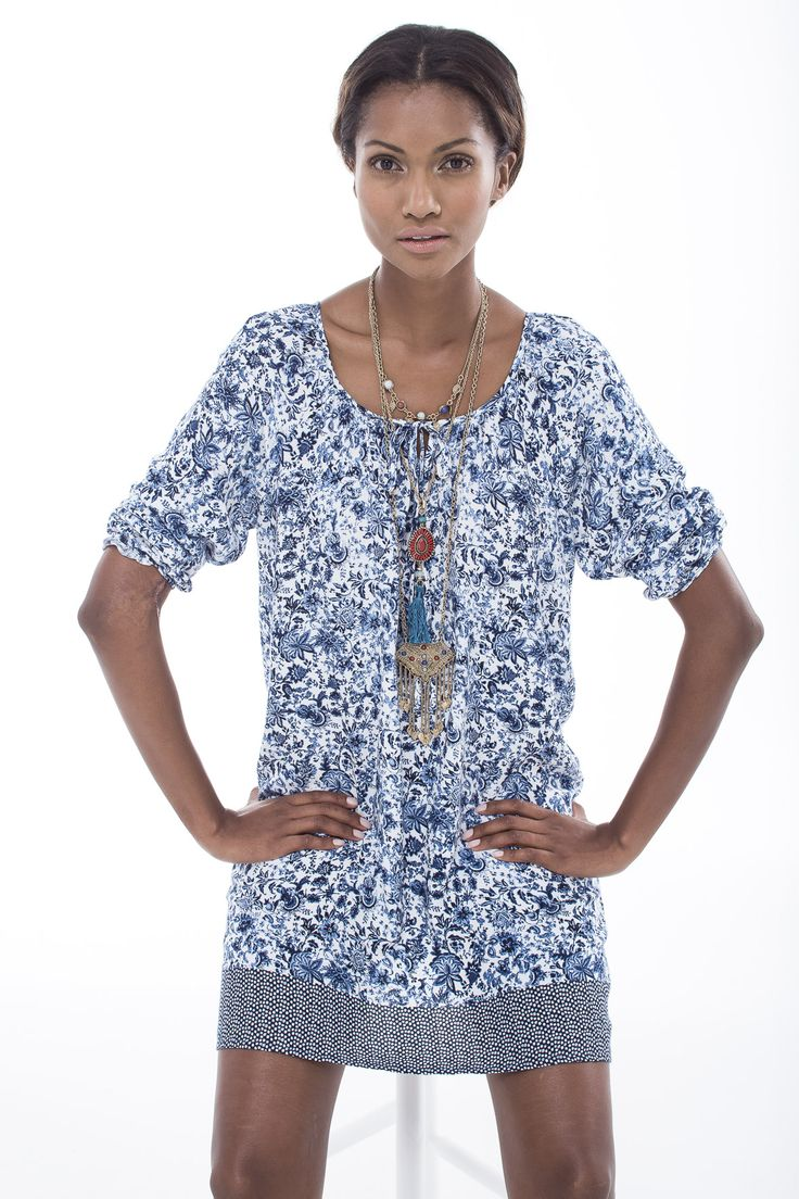 The printed tunic dress. #miladys #dress