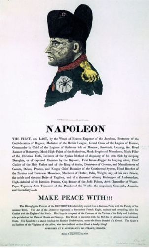 Vintage-19th-Century-Napoleon-British-Satirical-Print-Poster-A3-A2-A1-Print