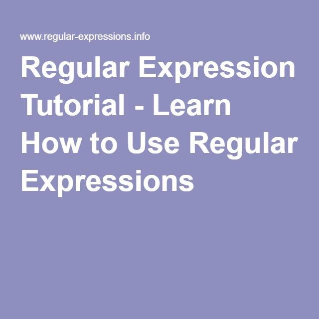 Regular Expression Tutorial - Learn How to Use Regular Expressions