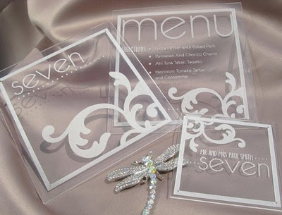 Acrylic wedding stationary
