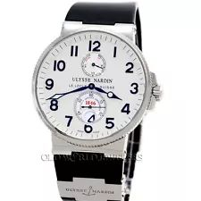 Ulysse Nardin Maxi Marine Chronometer 1846 Stainless Steel Ref 263-66 Box Papers