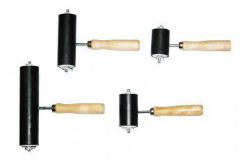 brayers Rolo de Borracha com cabo de Plástico para Gravura Rolo macio para gravura em plástico.