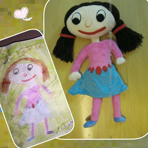 making dolls from kids painting by bazbazak