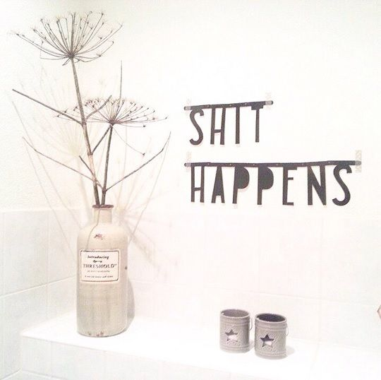 #Wordbanner #tip: #Shit #happens - Buy it at www.vanmariel.nl - € 11,95, 2 for € 20 - Foto @Lausje040