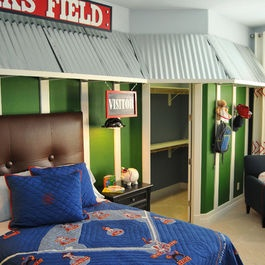 The Boys Dream Baseball Room