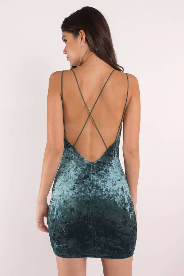 df11248682da In A Bind Teal Crushed Velvet Bodycon Dress
