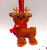 DoCrafts Mini Soft Christmas Kits - Reindeer - complete with little bell.  Perfect for making your own Xmas Tree Decorations.