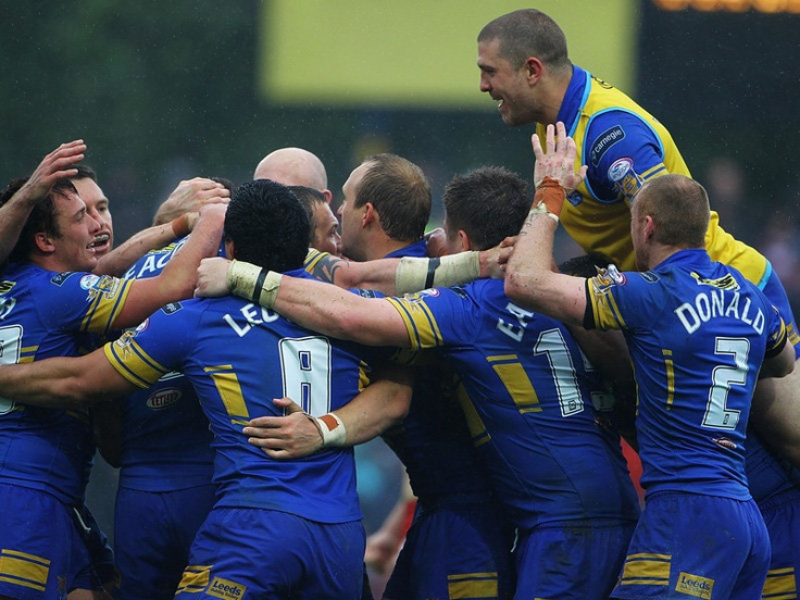 Leeds Rhinos - My favorite rugby league team because of their corporate sponsor, Neil Scarlett Not to be confused with rugby union.