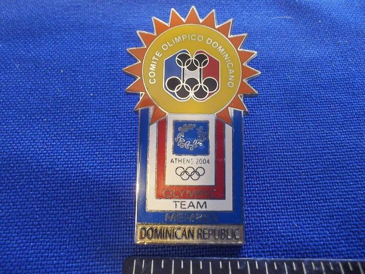 2004 Athens Olympic NOC Pin Dominican Republic Olympic Team Member