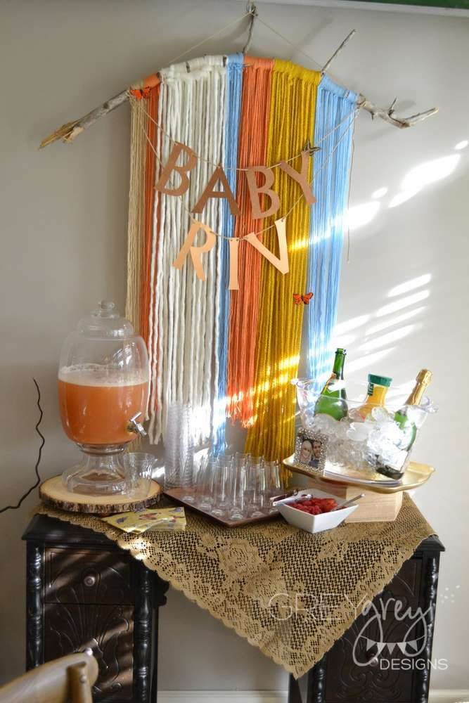 Boho Chic, Butterfly, Bohemian, Vintage Baby Shower Party Ideas | Photo 1 of 37 | Catch My Party