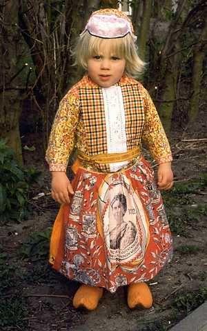 boy in traditional Dutch clothing ( Marken)