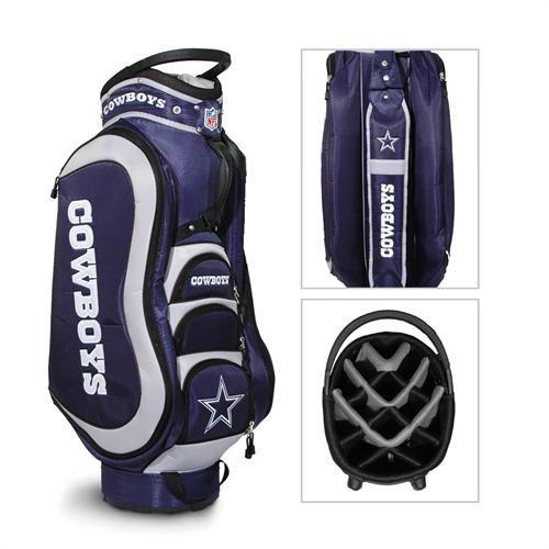 Golf like a real fan with a Dallas Cowboys Medalist Cart Golf Bag by Team Golf!